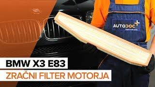 Video navodila za svoj BMW X3
