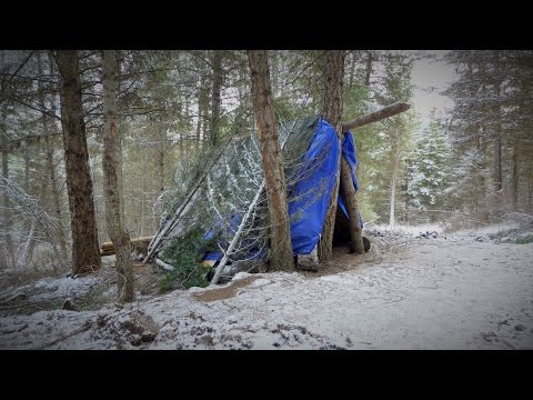 Building my off grid Winter Shelter Shack aka