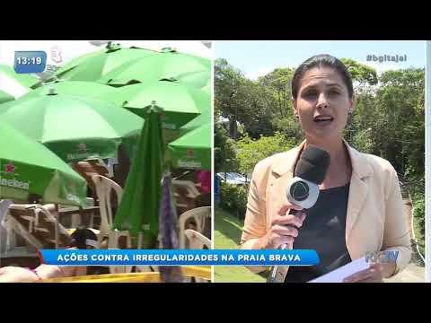 Procon realiza ações contra irregularidades na Praia Brava em Itajaí