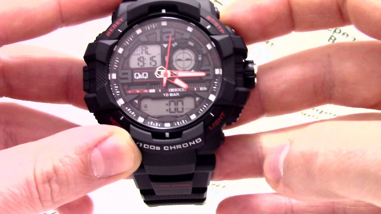 62e08bcb Часы Q&Q GW86-002 - Инструкция, как настроить от PresidentWatches.Ru -  YouTube