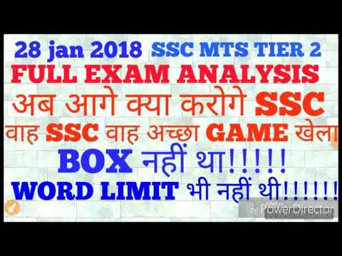 Ssc mts tier 2 full exam review