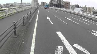 第一京浜下り-多摩川六郷橋で多摩川超え