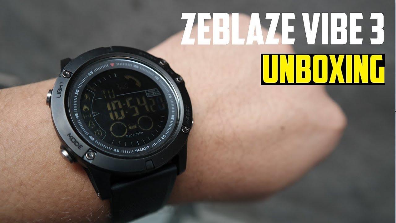 46c29378481 Unboxing Zeblaze Vibe 3 - O Smartwatch com 33 meses de bateria GEARBEST