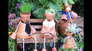 Поделки для дачи и сада(Поделки для дачи. Посмотрите красивые идеи как украсить дачу или сад поделками из цветочных горшков. http://dacha..., 2014-08-29T04:00:00.000Z)