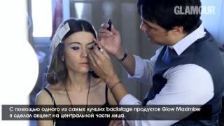 Синие стрелки на глазах: макияж от Dior