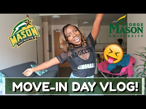 COLLEGE MOVE IN DAY VLOG | GEORGE MASON UNIVERSITY