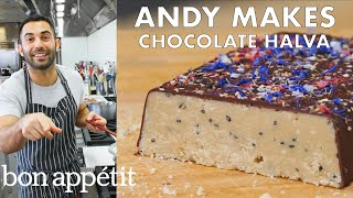 Andy Makes Salted Chocolate Halva | From the Test Kitchen | Bon Apptit