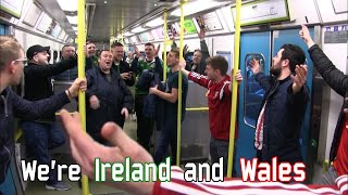 We're Ireland and Wales ... (Ireland - Wales)