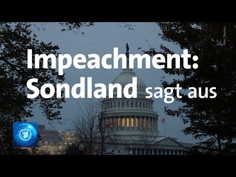 Impeachment-Befragungen live: US-Botschafter