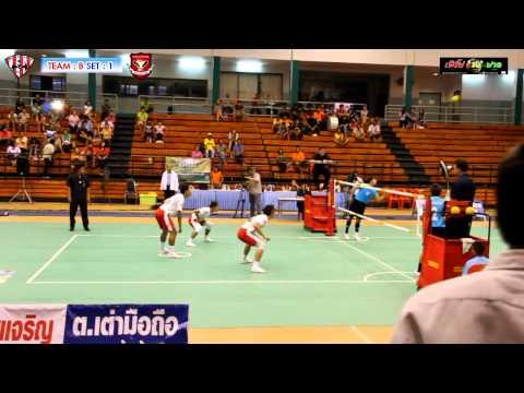 การแข่งขันตะกร้อไทยแลนด์ลีก 2013 ชัยภูมิ VS กาญจนบุรี 17-05-2556