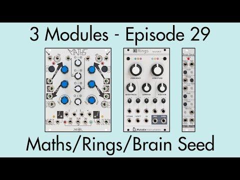 3 Modules #29: Maths, Rings, Brain Seed