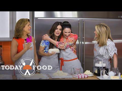 Sandra Bullock Helps Her Sister Gesine Bullock-Prado Make Cherry Pie | TODAY