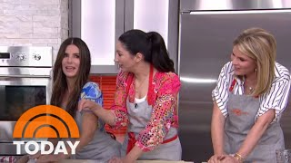 Sandra Bullock Helps Her Sister Gesine Bullock-Prado Make Cherry Pie | TODAY