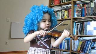 Alana, age 4, playing suzuki violin - Twinkle, Twinkle, Little Star Variations (05/20/2013)
