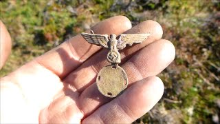 German WW2 Eagle , bullets and hord of buttons found.