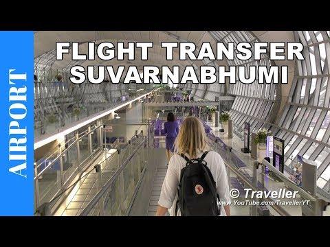 Flight Transfer at Bangkok Airport (Suvarnabhumi Airport) - How to walk to a connection flight
