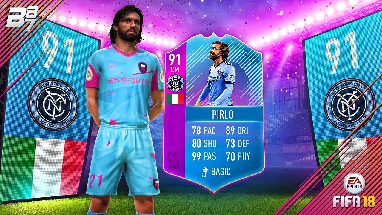 End of era 91 pirlo unlock squad building challenge for Deco 90 fut 18