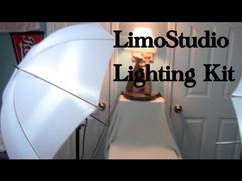 How To Use Umbrella Lights Impressive Setup And Review LimoStudio 60W Lighting Kit YouTube
