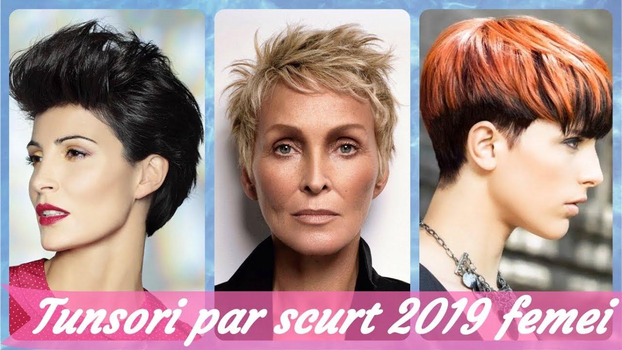 Top 20 De Tunsori Par Scurt 2019 Femei Youtube