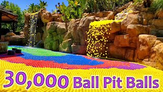 Filling Our Pool With 30,000 Ball Pit Balls!!!