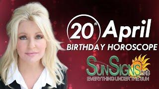 April 20th Birthdays Personality Horoscope