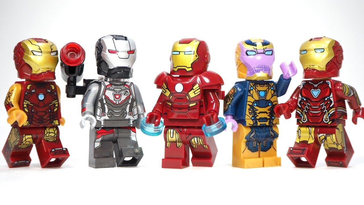 Super Heroes Lego Infinity War Ironman MiniFigure 76108 Thanos Iron Man