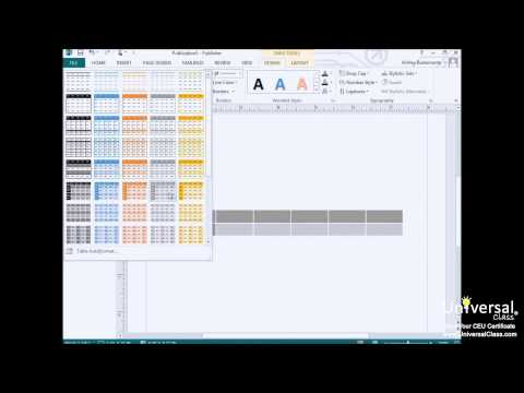 How to Use and Format Tables in Microsoft Publisher 2013