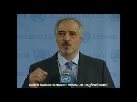 Syrian Arab Republic, H.E. Mr. Bashar Ja'afari - Security Council Media Stakeout on Syria