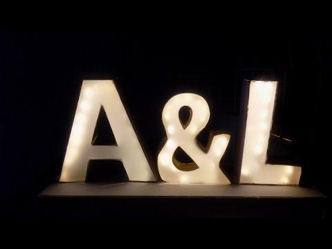 Letras iluminadas con tira LED