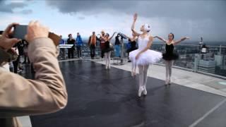"""""""Sterbender Schwan"""" in 130 Metern Höhe - Nachwuchs-Ballerina begeistert Touristen"""