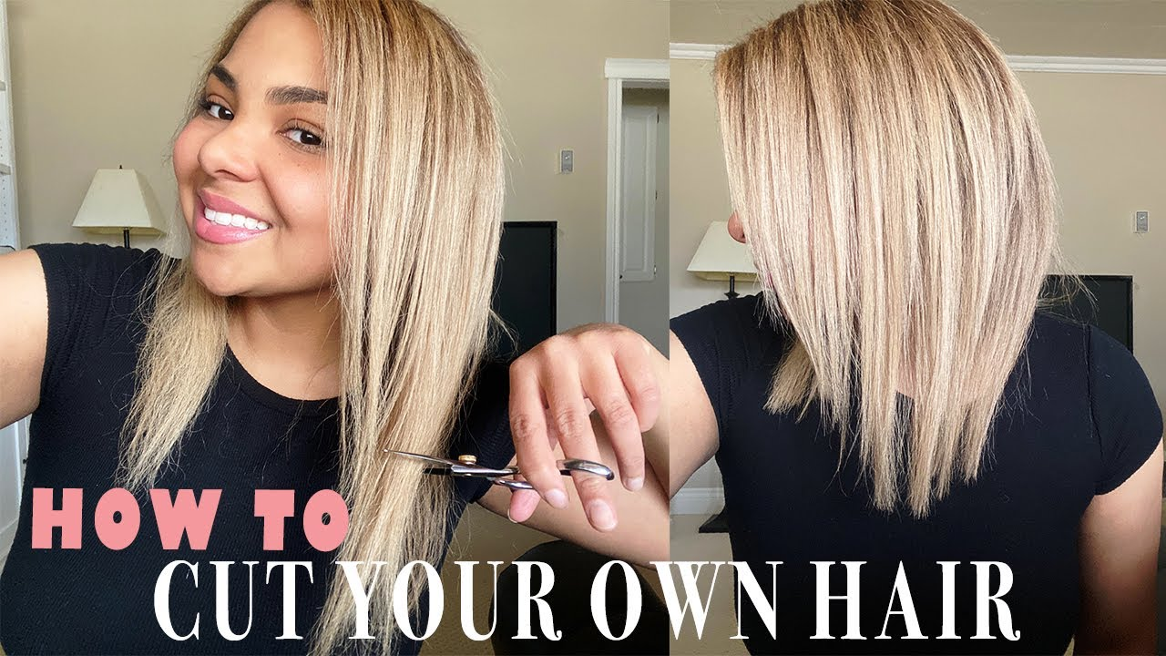 HOW TO CUT YOUR OWN HAIR AT HOME  DIY Layered Haircut Tutorial