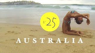 Fitness am Strand. Frühsport in Australien. AUSTRALIEN - LESS WORK / MORE TRAVEL