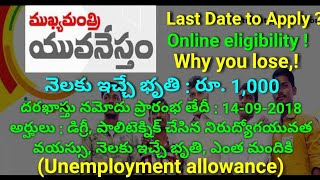 AP Mukhyamantri Yuva nestham Scheme Online Registration Started – Apply Online For Nirudyoga Bruthi