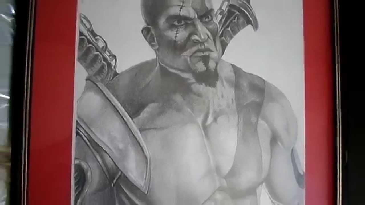 Kratos God Of War Desenho Realista Youtube