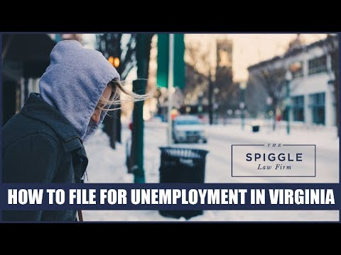 Filing for unemployment in Virginia