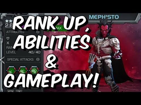 Mephisto Rank Up, Abilities & Gameplay! - Marvel Contest Of Champions