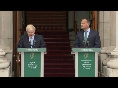 Watch again: Boris Johnson and Leo Varadkar hold press conference in Dublin