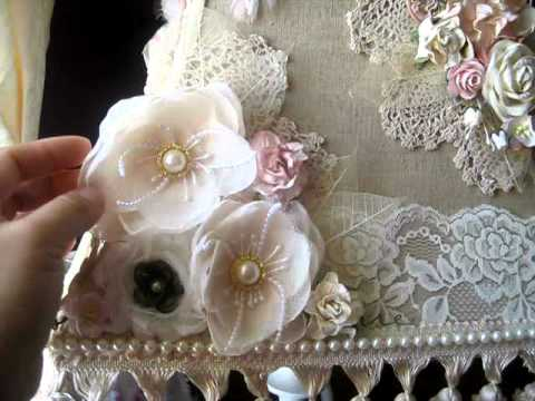 Gorgeous altered shabby chic lamp shade youtube gorgeous altered shabby chic lamp shade aloadofball Choice Image