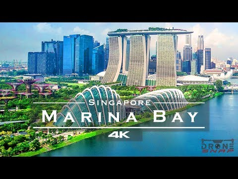 Marina Bay, Singapore 🇸🇬 - By Drone [4K]