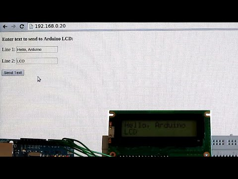 Arduino LCD Displays Text from Web Page - YouTube