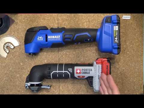 Review: Kobalt 24V Brushless Oscillating tool (multi-tool) & Porter Cable 20V multi-tool