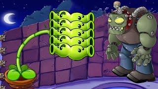 Plants vs Zombies - 1 Peashooter vs Giga Gargantuar vs Zomboss