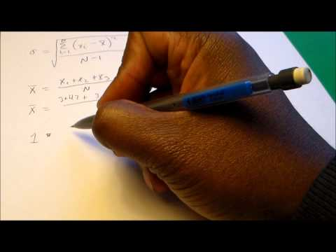 How to Calculate Standard Deviation (Uncertainty) for Measured Values