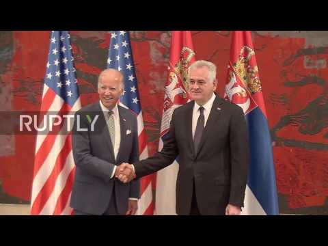 Serbia: US VP Joe Biden talks Kosovo with PM Vucic in Belgrade