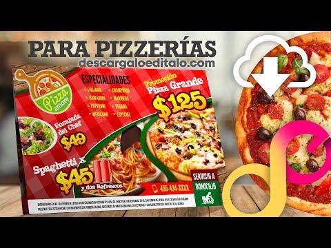 Volante O Flyer Editable Para Pizzería Descarga (Tutorial)