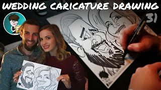 Drawing At a Wedding Super Fast Hilarious Caricatures of guests by professional Caricaturist
