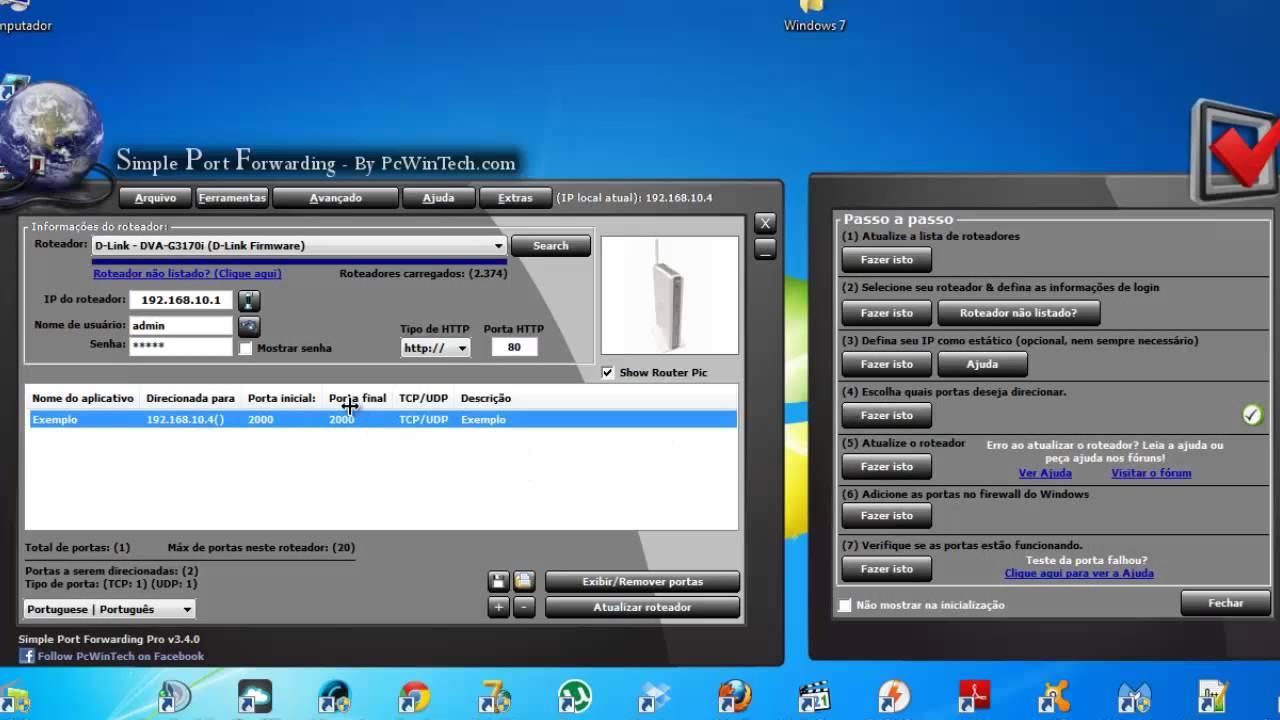 Abrir portas do roteador com programa funcional e simples