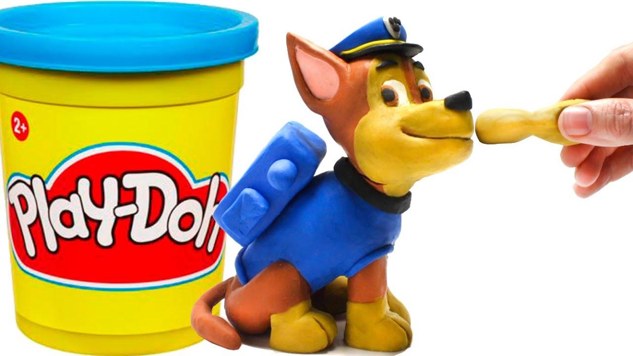 Paw Patrol Chase Stop Motion Play Doh claymation plastilina playdo Patrulla canina de cachorros