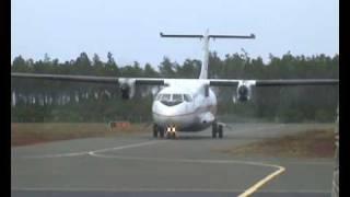 "ATR 72-500 Air Tahiti F-OHJS ""Maheata"", Ile des Pins."