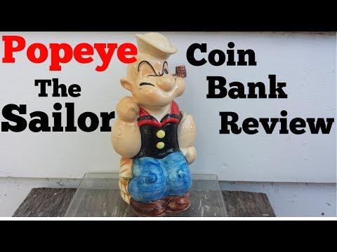 Popeye The Sailor Man Cartoon Movie Coin Piggy Bank Review Theme